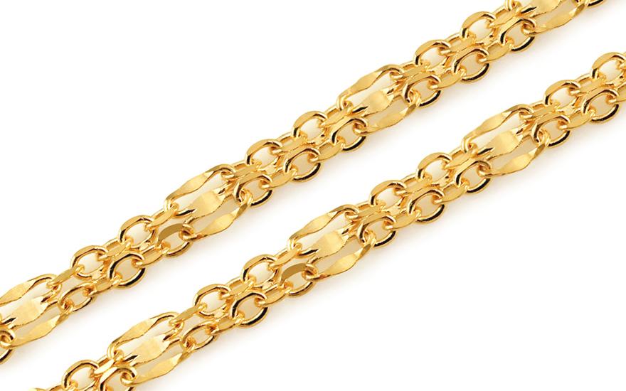 Zlatý dámský řetízek 4 mm IZ10904