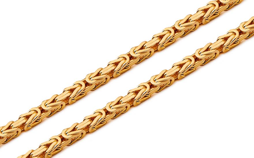 Zlatý dámský řetízek Byzantine 364f5025582