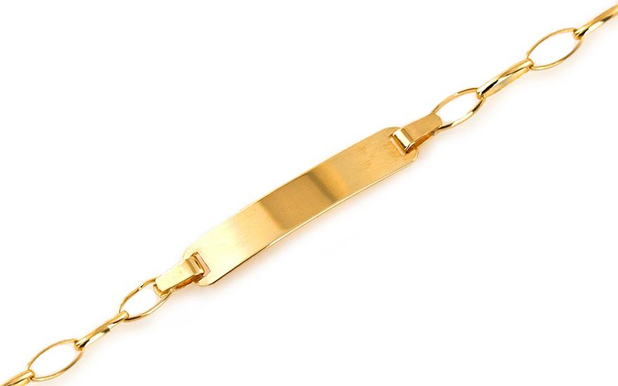 Zlatý dětský náramek s destičkou IZ6797Y