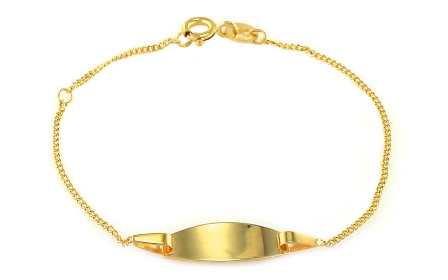 Zlatý dětský náramek s ploténkou na gravírování IZ8643