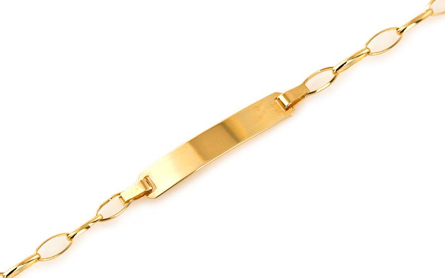 Zlatý dětský náramek s plotýnkou IZ7697