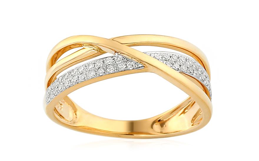 Zlatý diamantový prsten 0,210 Bebe IZBR394