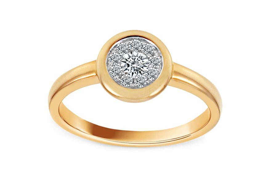 Zlatý diamantový prsten Cynthia KU188Y