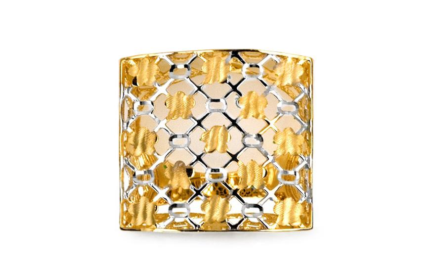 Zlatý dvoubarevný prsten IZ6088
