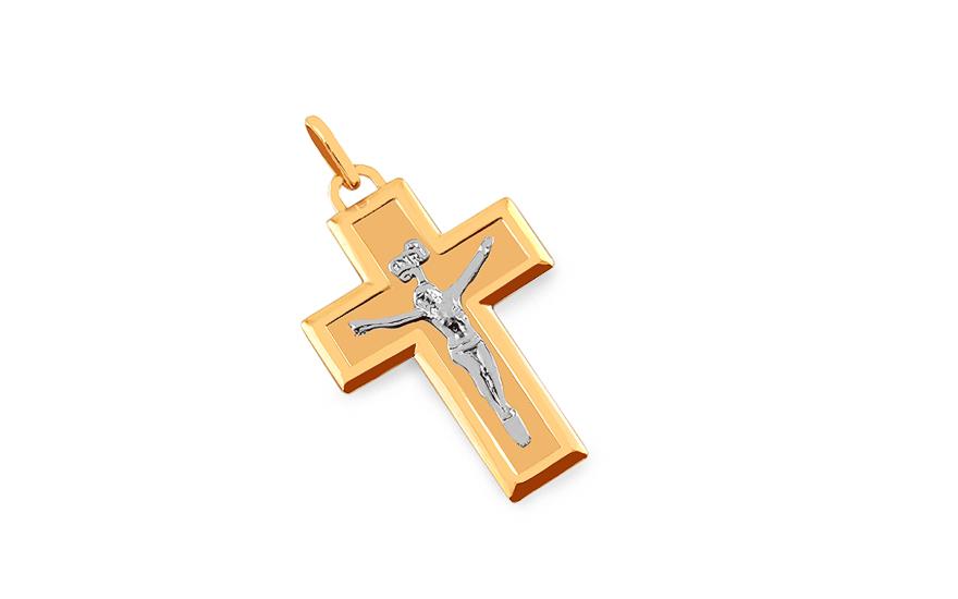 Zlatý křížek s Ježíšem IZ7607