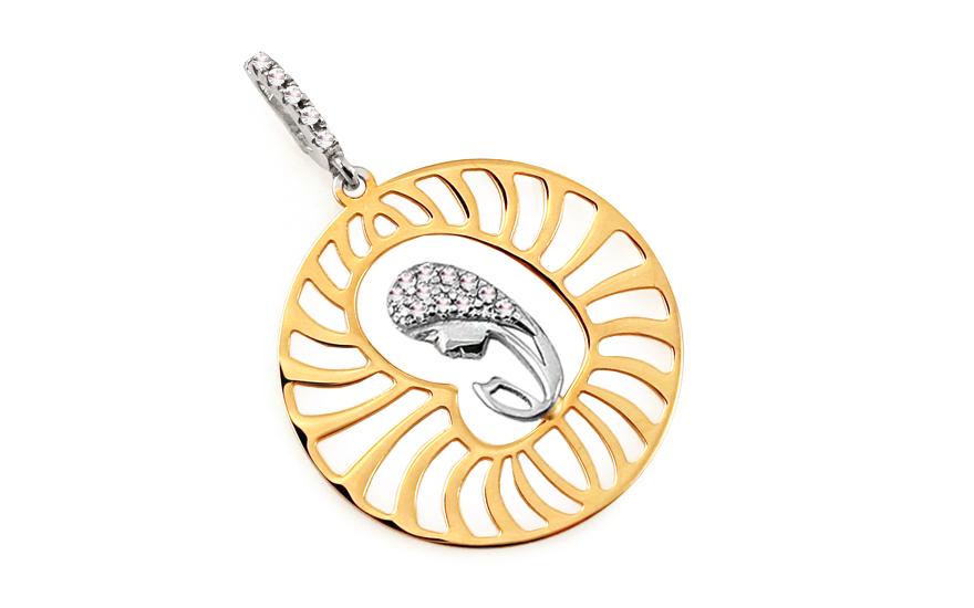 Zlatý medailon Matka Boží IZ6541