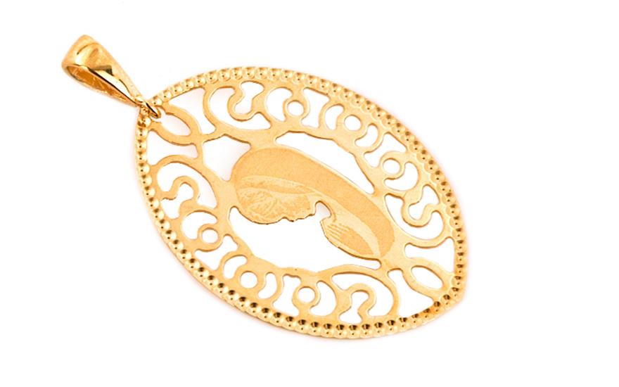 Zlatý medailon Panna Maria IZ7281