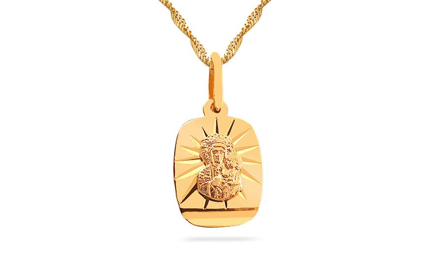 Zlatý medailon Panna Marie s Ježíškem IZ7621