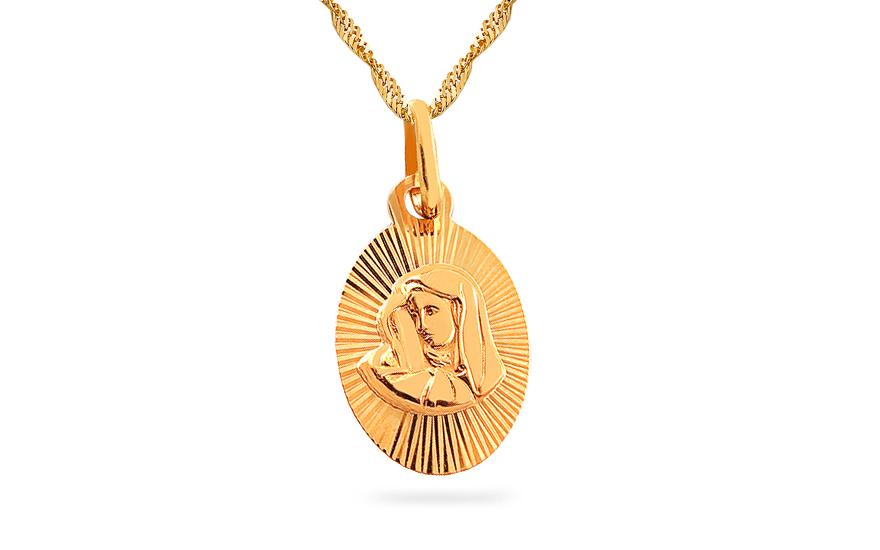Zlatý medailon Panna Marie s Ježíškem IZ7625
