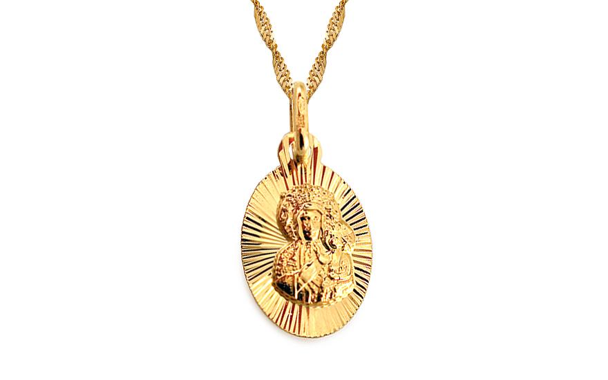 Zlatý medailónek Panny Marie s Ježíškem IZ4587