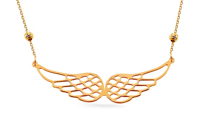 Zlatý náhrdelník Andělská křídla 136e1d9c95