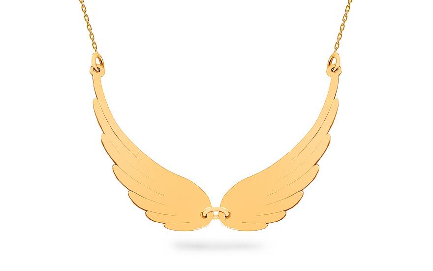 Zlatý náhrdelník andělská křídla velká Celebrity CS9CE007