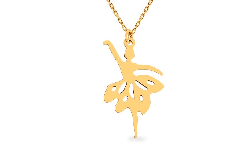 Zlatý náhrdelník balerína IZ12458