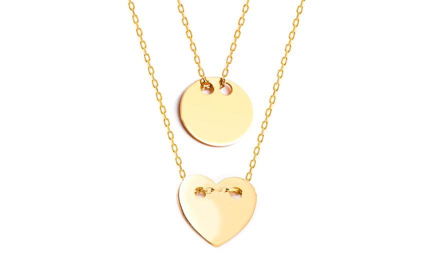 Zlatý náhrdelník Celebrity IZ8145