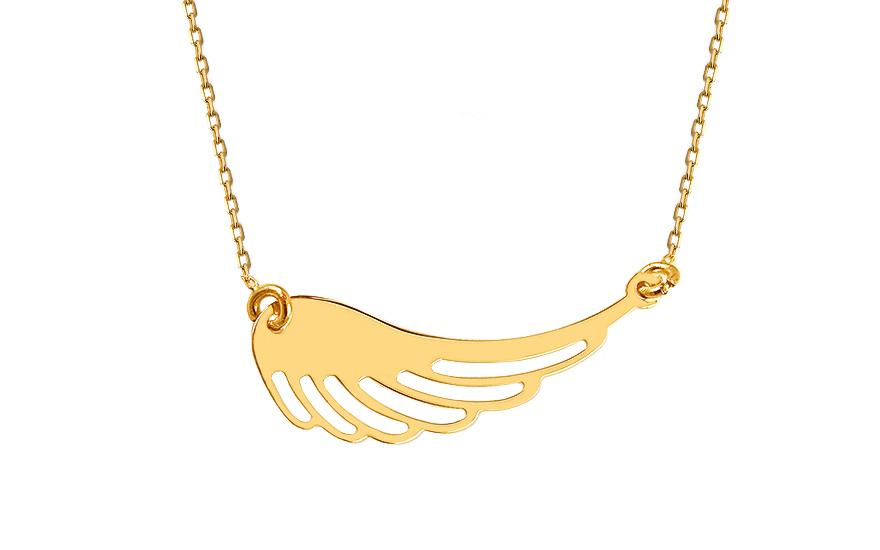 Zlatý náhrdelník Celebrity Andělské křídlo 823c8677b9