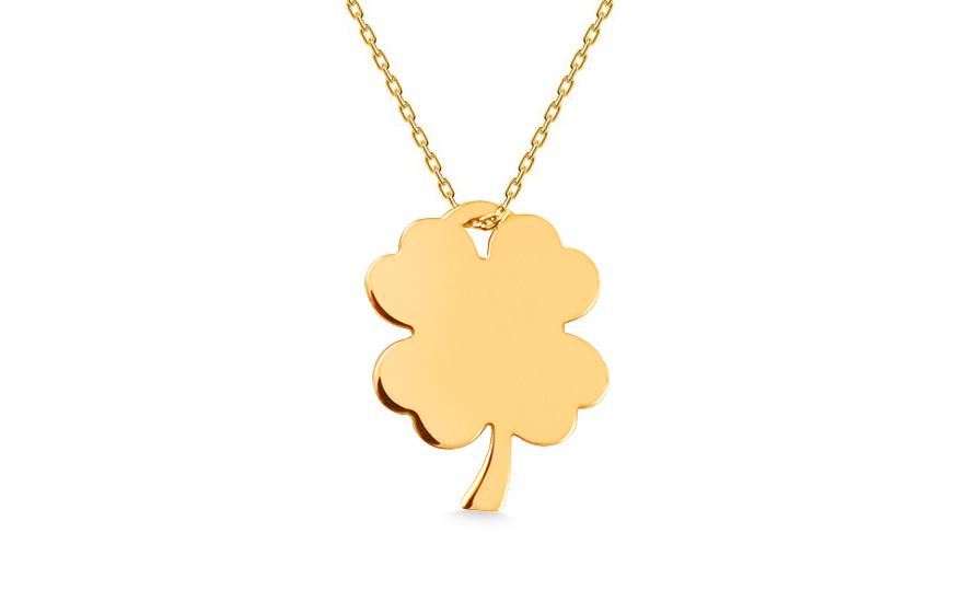 8df50a987 Zlatý náhrdelník Celebrity čtyřlístek, pro ženy (IZ13605) | iZlato24.cz
