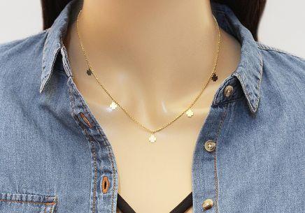 71159029e Zlatý náhrdelník Celebrity čtyřlístky, pro ženy (IZ12053N) | iZlato24.cz