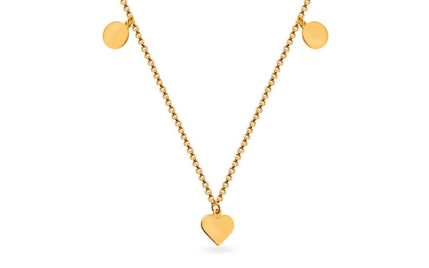 1a57888d7 Zlatý náhrdelník Celebrity s přívěsky, pro ženy (IZ15070) | iZlato24.cz