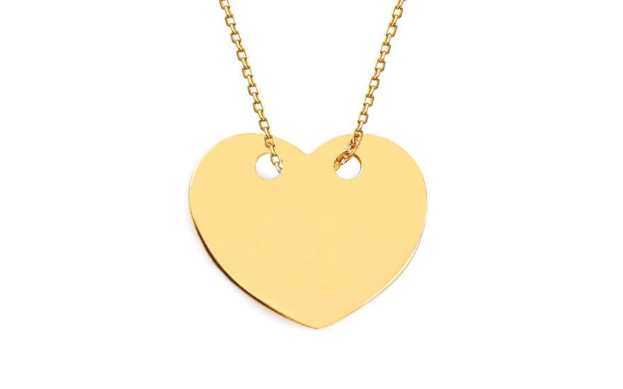 87d56cb5b Zlatý náhrdelník Celebrity srdce, pro ženy (IZ9238) | iZlato24.cz