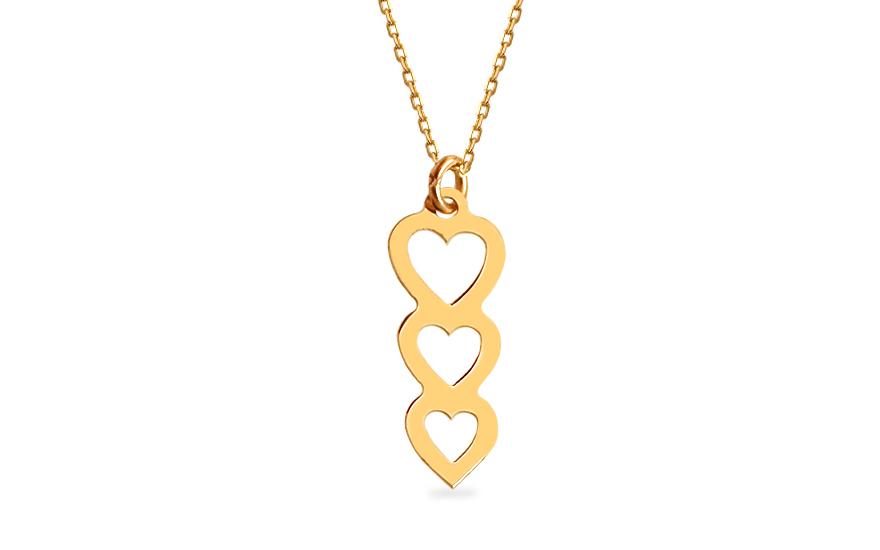 1ba6498d8 Zlatý náhrdelník Celebrity srdíčka, pro ženy (IZ12461) | iZlato24.cz