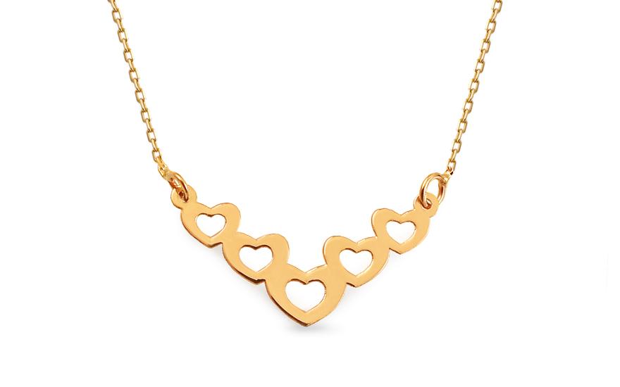 Zlatý náhrdelník Celebrity srdíčka IZ13239