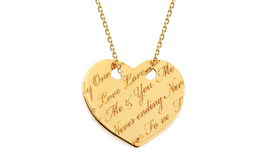 Zlatý náhrdelník Celebrity srdíčko Me & You IZ11531
