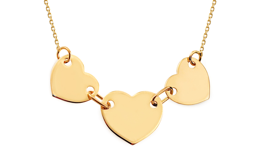 ff568fc94 Zlatý náhrdelník Celebrity Three, pro ženy (IZ9244) | iZlato24.cz