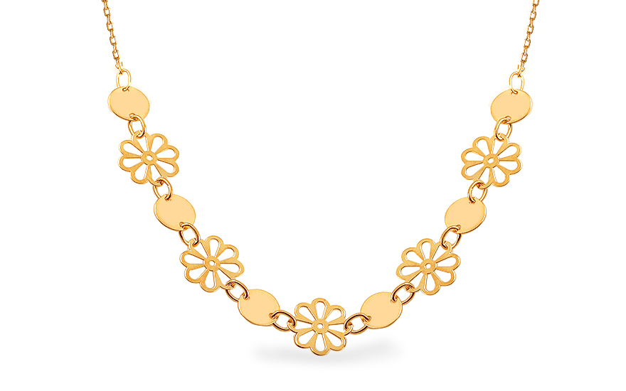Zlatý náhrdelník Fleuria IZ12731