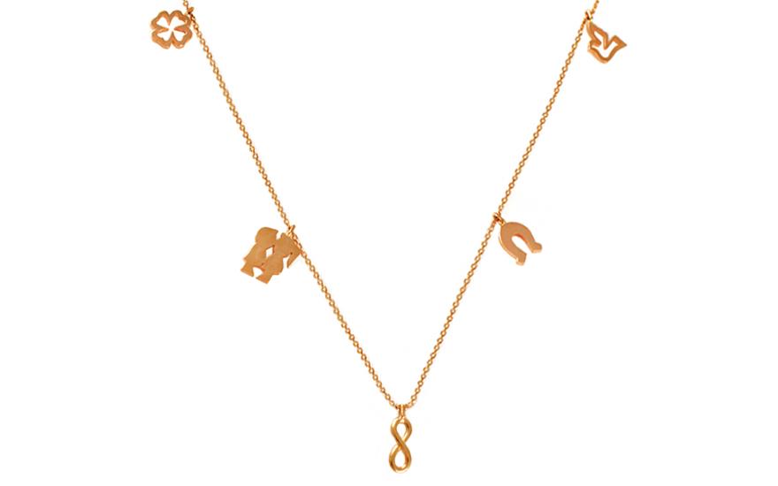Zlatý náhrdelník Happiness IZ9570
