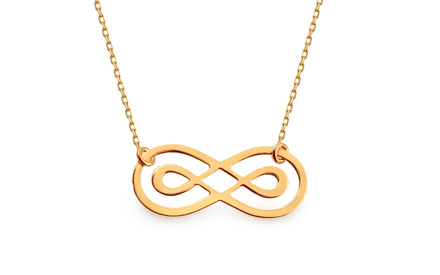 Zlatý náhrdelník Infinity IZ13369