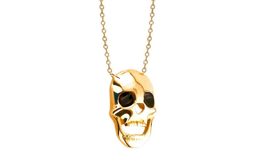Zlatý náhrdelník Lebka IZ6382
