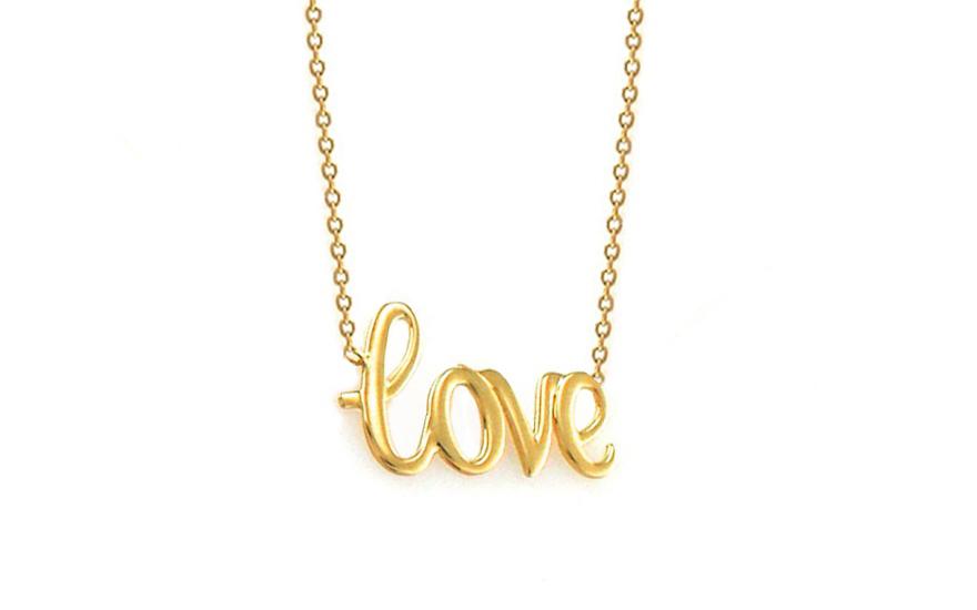 Zlatý náhrdelník Love IZ8644N