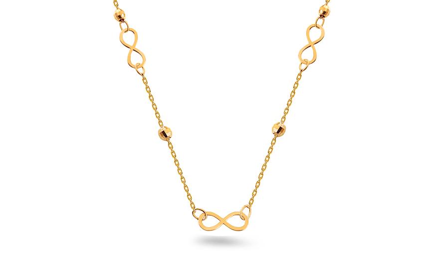 Zlatý náhrdelník nekonečno IZ11198