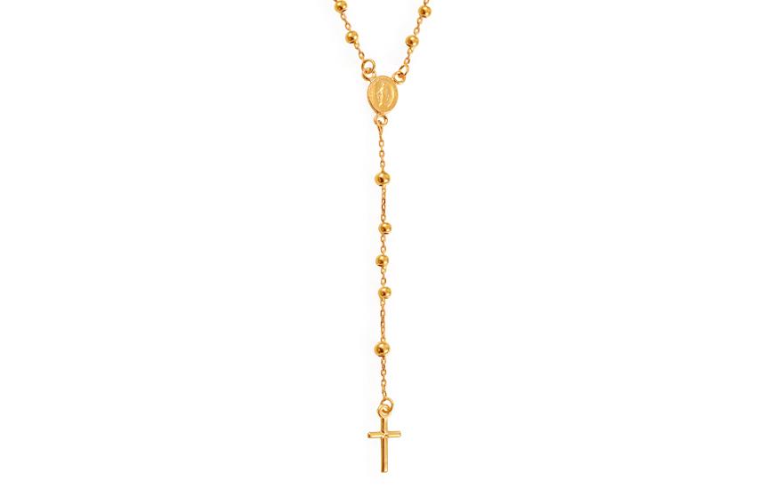 Zlatý náhrdelník růženec IZ11606