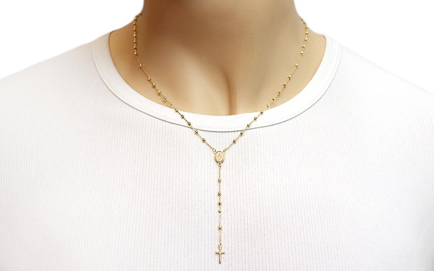 Zlatý náhrdelník růženec IZ11606G