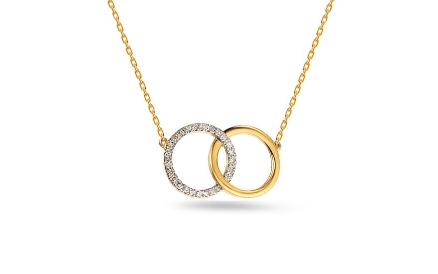 32308576ba6 Zlatý náhrdelník s brilianty
