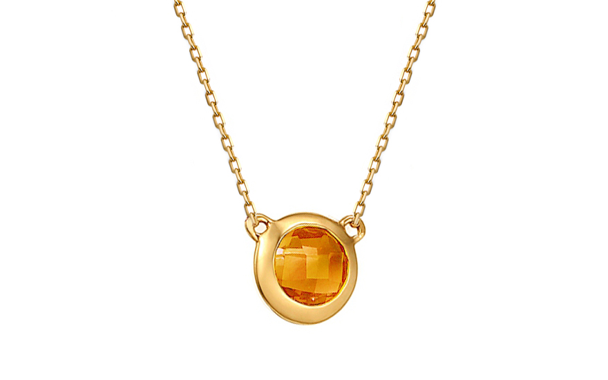 Zlatý náhrdelník s citrínem IZBR169CNHM