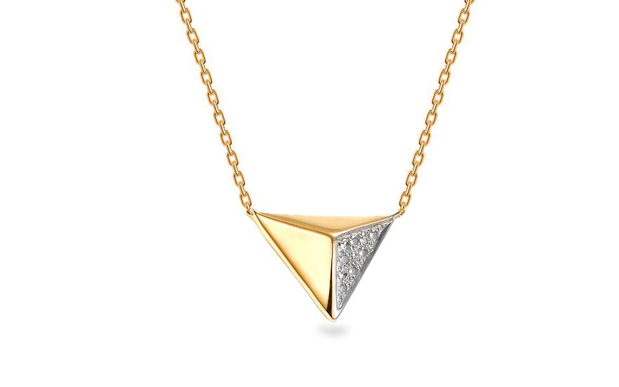 03cbcc17a5e Zlatý náhrdelník s diamanty 0