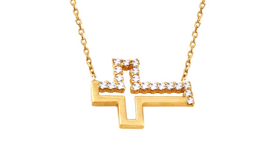 Zlatý náhrdelník s křížkem IZ10117