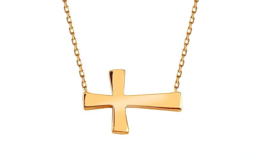 Zlatý náhrdelník s křížkem IZ13368