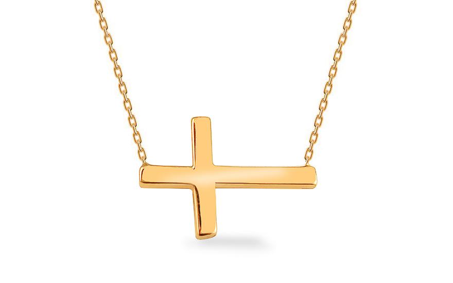 Zlatý náhrdelník s křížkem IZ13606