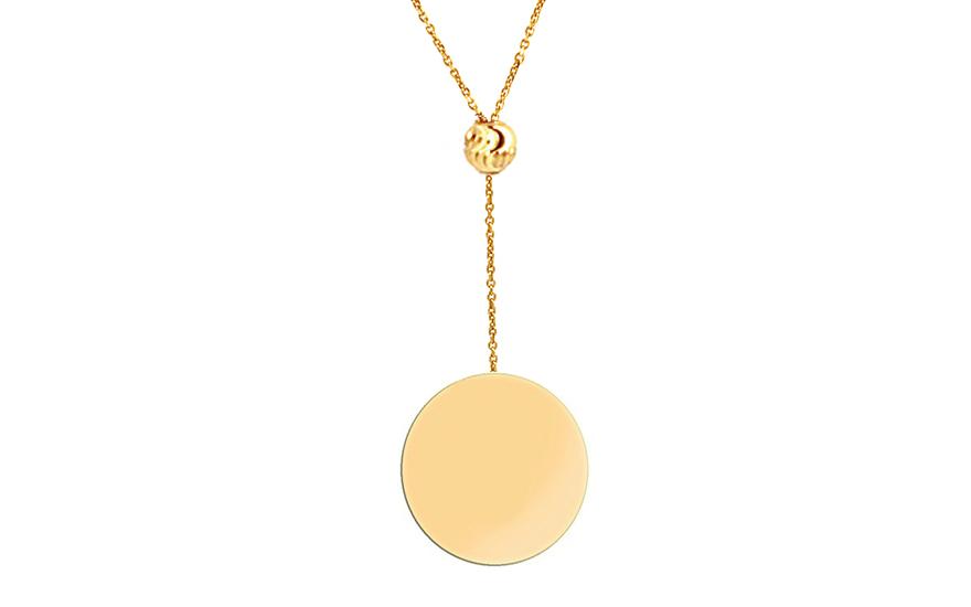 Zlatý náhrdelník s přívěskem IZ9992