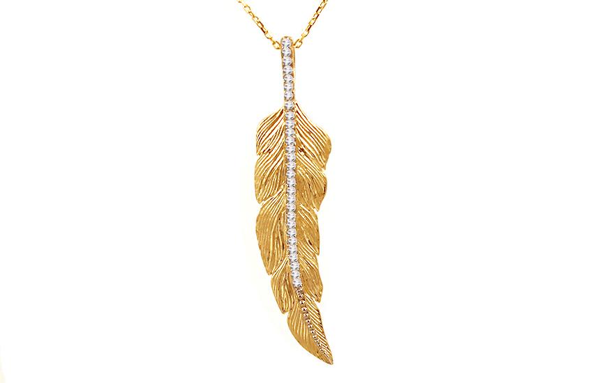 Zlatý náhrdelník s přívěskem IZ10048
