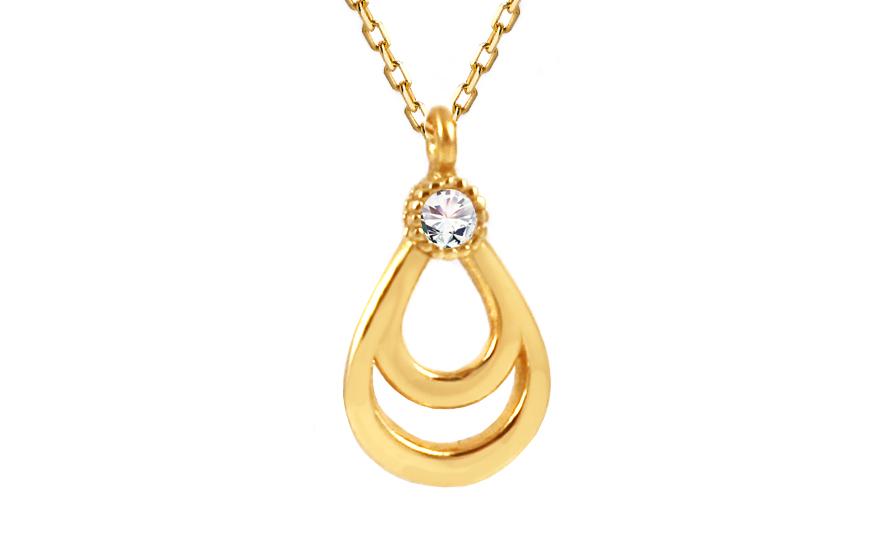 Zlatý náhrdelník s přívěskem IZ10049