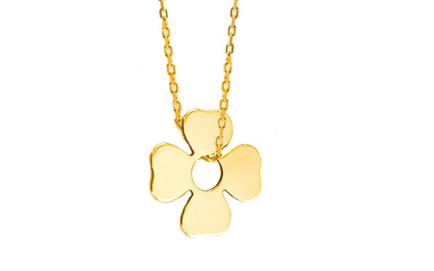 Zlatý náhrdelník s přívěskem Lucky Celebrity IZ7107