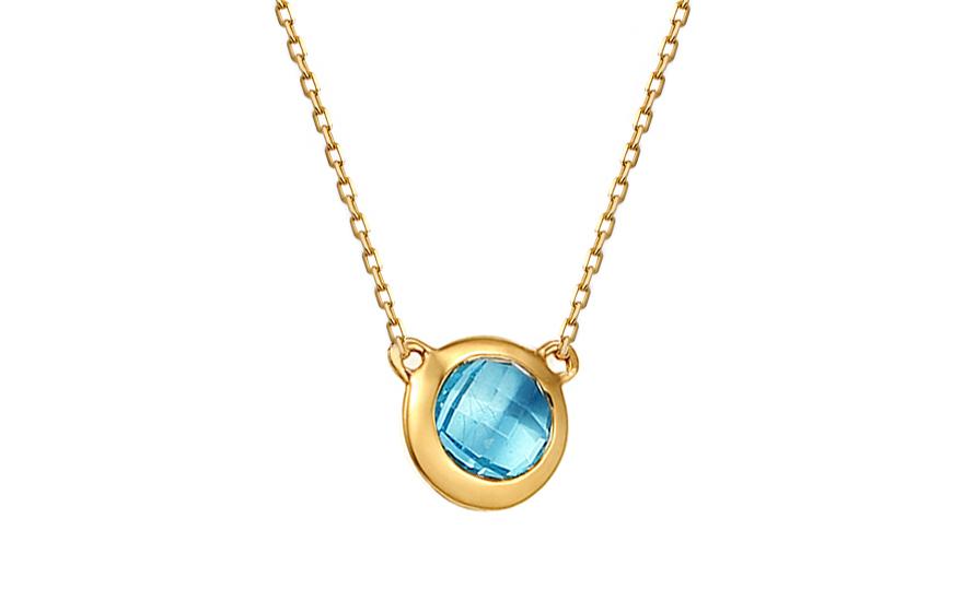 Zlatý náhrdelník s topasem IZBR169TNHM