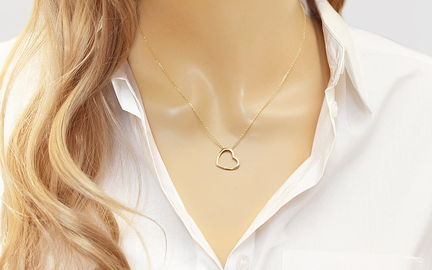 Zlatý náhrdelník se srdcem IZ13229