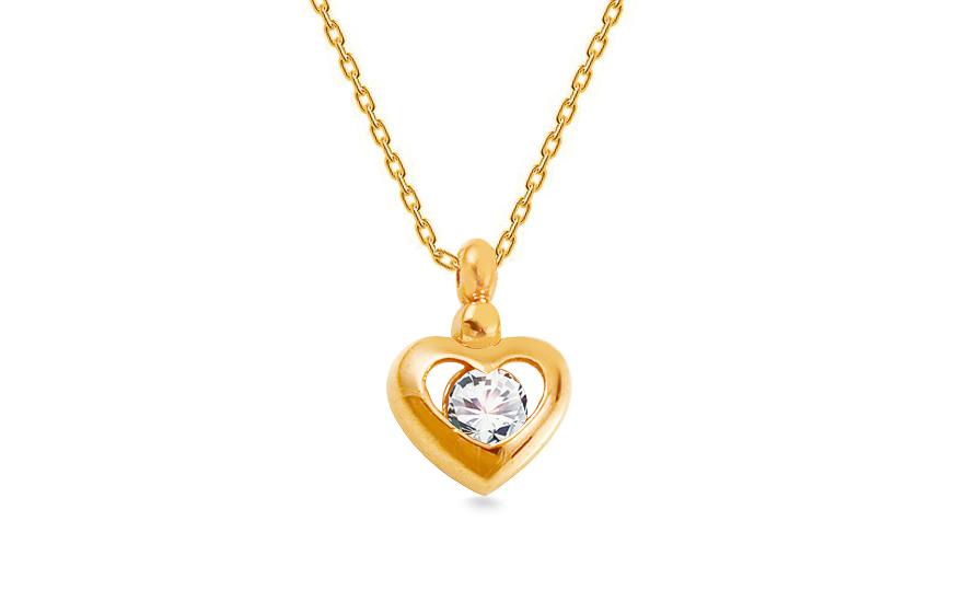 Zlatý náhrdelník se srdíčkem IZ13827