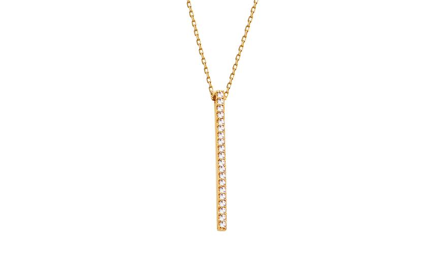 Zlatý náhrdelník se zirkony IZ12100
