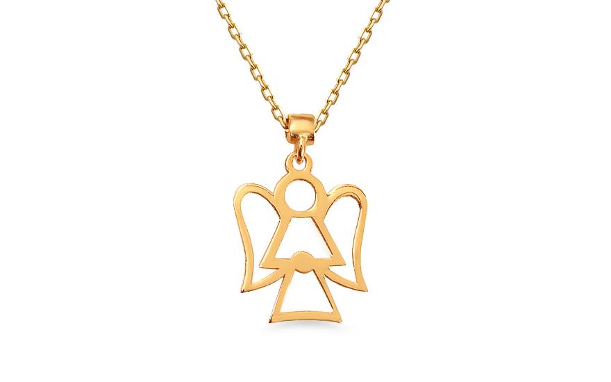 Zlatý náhrdelník V.I.P. anděl IZ13250